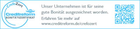 Timberfarm Bonitätszertifikat CrefoZert