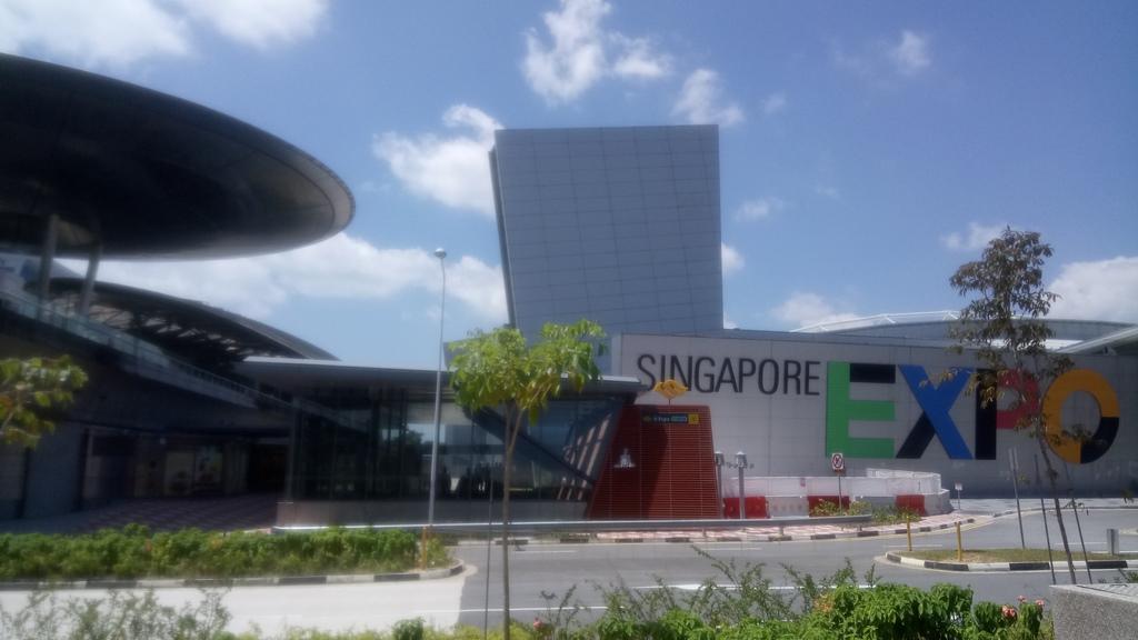 Auf dem Expo-Gelände in Singapur