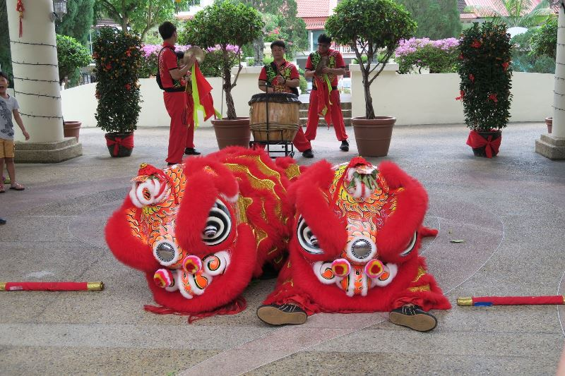 Lion Dance in Singapur